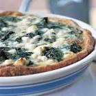 caramelized onion  feta and spinach quiche