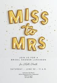 Free Bridal Shower Invite Templates Balloon Banner Bridal Shower Invitation Template Free