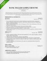 bank teller resume chronological resume for bank teller