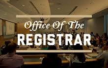 pictures of the office. promo link to the office of registrar pictures r