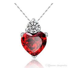 whole pendant necklace 925 stering silver chain charms zircon heart love women pendant for jewelry making pendulum silver plated dress accessories