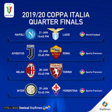 StarTimes - 2019/2020 Coppa Italia Quarter Finals Fixtures...