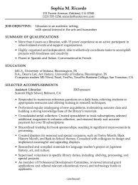 Chronological Resume Sample Academic Librarian Pg1 Resume Design
