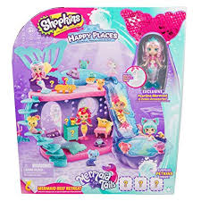 Amazoncom Shopkins Happy Places Mermaid Reef Retreat Playset With