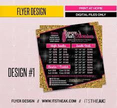 Premade Hair Pricing Flyer Design Digital Design Only Hair Etsy