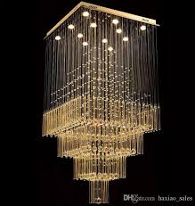 modern k9 crystal chandelier square led pendant light luxurious fashion stairs lamp living room lighting led bedroom pendant lights lights for home from