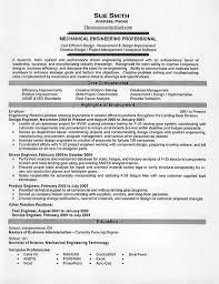 Mechanical Engineer Resume Template Mechanical Engineering Resume Example  Printable