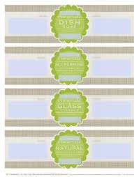 Recipe Labels Templates Diy Homemade Clean Free Label Printables And Recipes Free