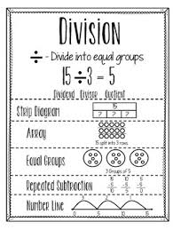 Division Anchor Chart Worksheets Teaching Resources Tpt