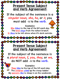 Subject And Verb Agreement Anchor Chart Subject Verb Agreement Anchor Charts And Task Cards