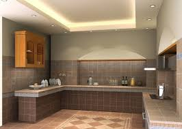 Decoration Of Kitchen Room Brown Cabinet And Bar Kitchen Ceiling Maple Wooden Flooring White