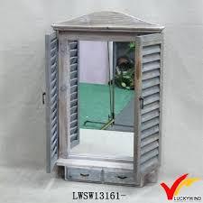 window mirror decor shutter design wood window mirror for wall decoration window mirror wall hanging