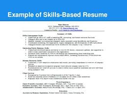 Skill Based Resume Examples Impressive Skills Based Resume Skills Example For Resume Experimental Depiction
