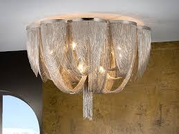 minerva 10 lights nickel finish flush light
