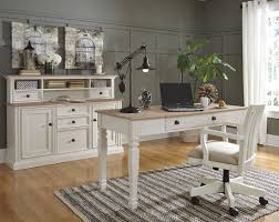 ashley furniture sarvanny home office desk set in two tone