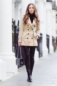 trench coat with booties fall outfit