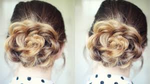 Flower Hair Style quick and easy flower bun hairstyle school hairstyles 7966 by wearticles.com