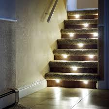 staircase lighting ideas. The Led Indoor Stair Lighting Fixtures Latest Door Design Regarding Recessed Prepare Staircase Ideas S