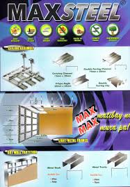 maxsteel metal ceiling assembly light metal frame dry wall partition