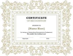 Certificate Of Recognition Template Free Download Certificate Of Award Template Free Download Samples Certificates