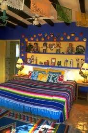 Mexican bedroom interior design - for more inspiration, visit www.