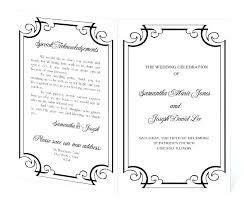 Free Printable Wedding Program Templates Template Layout
