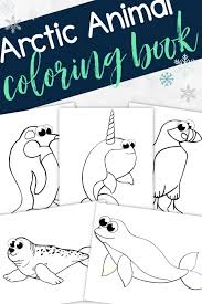 Winnie the pooh color by number easy penguin color by number coloring page rooster color by number printable sheet Printable Arctic Animal Coloring Book Simple Mom Project
