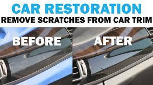 removing the scratches from a luxury
