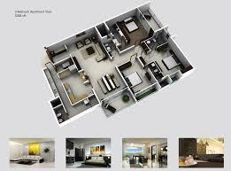 3 bedroom apartments plan. 3bhk 3d. 3 Bedroom Apartments Plan