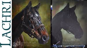sd painting horse oil over acrylic time lapse demo by lachri you