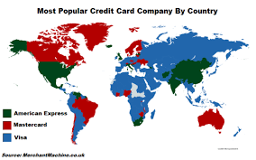 Visa and mastercard take up most of the market, followed by american express, unionpay, and jcb. Most Popular Credit Card By Country Visa Mastercard Or Amex