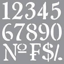 Number Stencil Font Amazon Com Decoart Ads 09 Americana Decor Stencil Old World Numbers