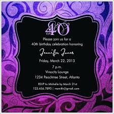 Birthday Party Invitations Templates Free Template 40th