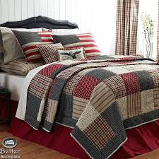 Red Patchwork Quilt King Red And Cream Tartan Patchwork Quilt Red ... & Red White Blue Patriotic Patchwork American Flag Country Home Quilt Bedding  Set Vhcbrands Colonial Red And Adamdwight.com