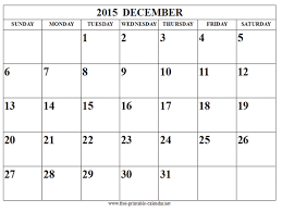 Download Printable Calendar 2015 December Printable Calendar 2015 Free Download