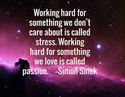 Image result for simon sinek quote working hard is called stress