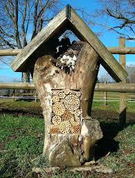 uses for logs this creative bee hotel uses bamboo and holes of the proper  sizes drilled . uses for logs ...
