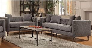 gray tweed sofa. Interesting Tweed Grey Tweed Sofa U0026 Loveseat Set With Antique Weathered Wood 505771Set Throughout Gray N