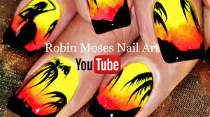 Island Nail Art Designs Tropical Hula Girl Nails Summer Neon Diy Nail Art Design Tutorial