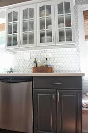 Painting Kitchen Backsplash Builder Grade Kitchen Makeover With White Paint Painted Kitchen