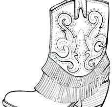 Cowboy Hat Coloring Page Cowboy Boot Coloring Page Hat Colouring