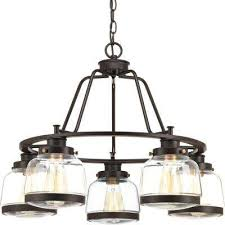 judson collection 5 light antique bronze chandelier with shade