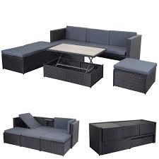 Poly Rattan Garnitur Mcw A29 Gartengarnitur Sitzgruppe Lounge
