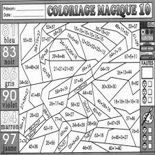 Coloriage Magique Ce1 Multiplication A Imprimer Malvorlagen Us