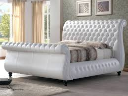 tufted leather sleigh bed incredible luxury sleigh beds chesterfield sleigh bed frame king bed luxury style tufted leather sleigh bed