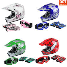 Details About Dot Youth Helmet Child Kids Motorcycle Full Face Offroad Dirt Bike Atv S M L Xl