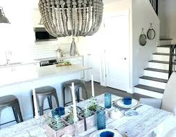 wood bead chandelier beaded modern farmhouse style kitchen and dining satori design for living small world