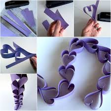 valentine paper heart chain wonderfuldiy