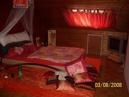 Orientalische Schlafzimmer Lampe Bettwäsche Mako Satin Rot