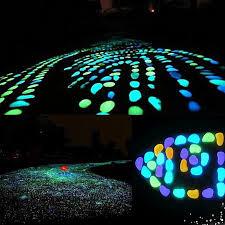 glow in the dark garden pebbles glow stones rocks for walkways garden path xie color
